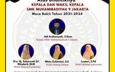 Pelantikan Kepsek dan Wakasek SMKM9 Masa Bakti 2021 – 2024